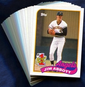 1989 Topps California Angels Baseball Card Singles