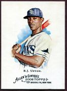 2008 Topps Allen and Ginter #15 B.J. Upton Baseball Card - Tampa Bay Rays
