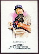 2008 Topps Allen and Ginter #159 James Shields Baseball Card - Tampa Bay Rays