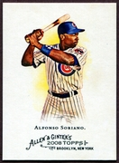 2008 Topps Allen and Ginter #160 Alfonso Soriano Baseball Card - Chicago Cubs