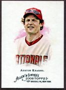 2008 Topps Allen and Ginter #162 Austin Kearns Baseball Card - Washington Nationals