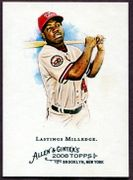 2008 Topps Allen and Ginter #248 Lastings Milledge Baseball Card - Washington Nationals