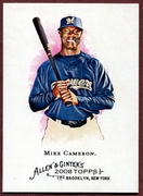 2008 Topps Allen and Ginter #314 Mike Cameron SP Baseball Card - Milwaukee Brewers
