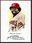 2008 Topps Allen and Ginter #320 Dmitri Young SP Baseball Card - Washington Nationals