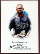 2008 Topps Allen and Ginter #340 Carl Crawford SP Baseball Card - Tampa Bay Rays