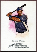 2008 Topps Allen and Ginter #43 Rickie Weeks Baseball Card - Milwaukee Brewers