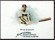 2008 Topps Allen and Ginter #56 Nick Johnson Baseball Card - Washington Nationals