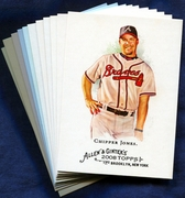2008 Topps Allen and Ginter Atlanta Braves Baseball Card Singles