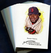 2008 Topps Allen and Ginter Boston Red Sox Baseball Card Singles
