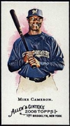 2008 Topps Allen and Ginter Mini #314 Mike Cameron Baseball Card - Milwaukee Brewers