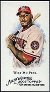 2008 Topps Allen and Ginter Mini A and G Back #321 Wily Mo Pena Baseball Card - Washington Nationals
