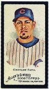 2008 Topps Allen and Ginter Mini Black #118 Geovany Soto Baseball Card - Chicago Cubs