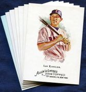 2008 Topps Allen and Ginter Texas Rangers Baseball Card Singles