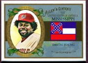 2008 Topps Allen and Ginter United States #US24 Dmitri Young Baseball Card - Washington Nationals