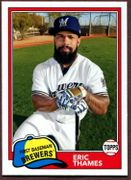 2018 Topps Archives #240 Eric Thames Baseball Card - Milwaukee Brewers