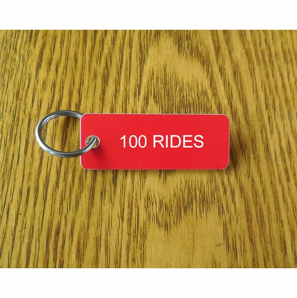 100 Rides Key Chain For Century Club and Other 100 Milestones