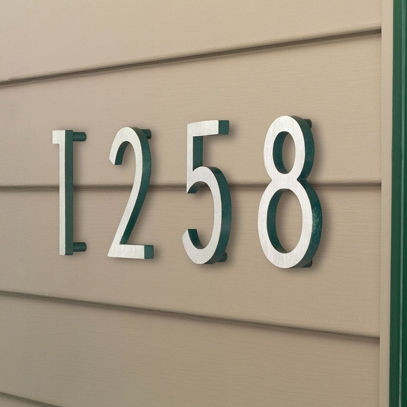 Floating Modern House Address Number