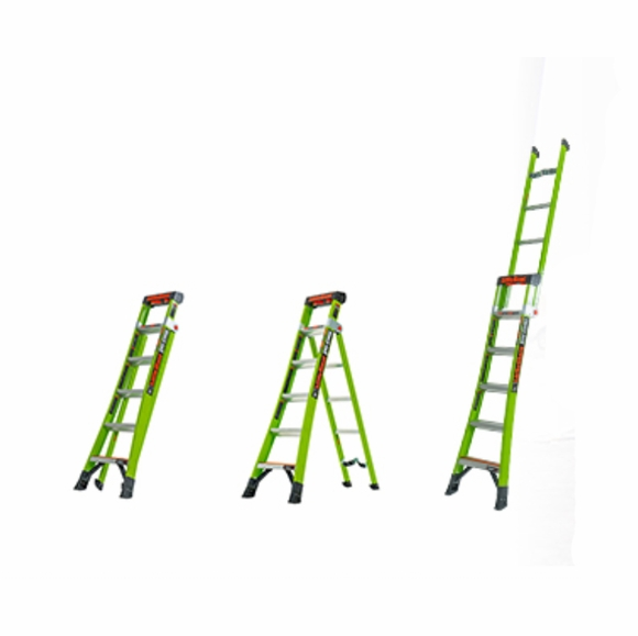Combination Stepladder, Leaning and Extension Ladder - 5' King Kombo Professional Ladder