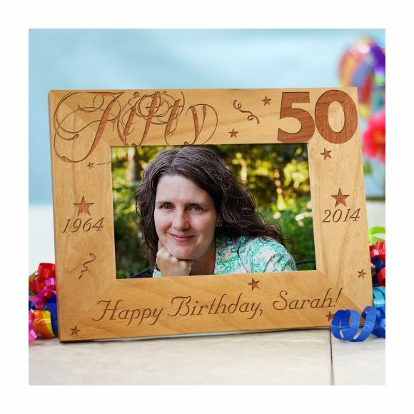 50th Birthday Personalized Engraved Picture Frame
