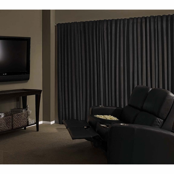 Absolute Zero Home Theater Total Blackout Curtain Panel