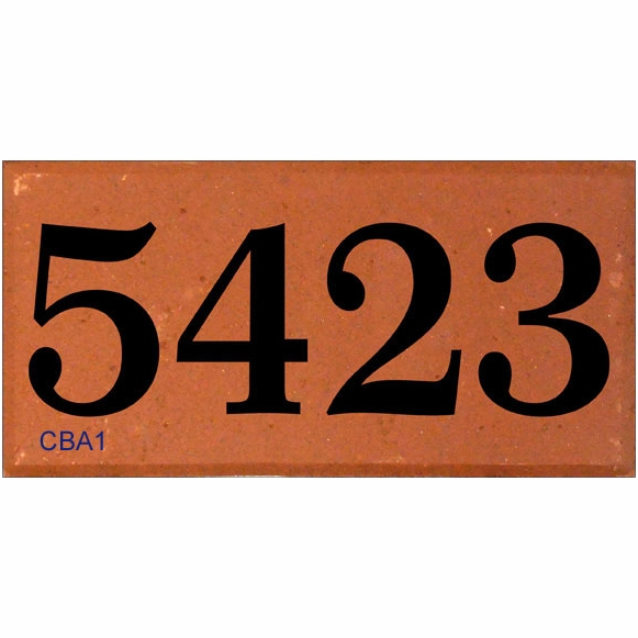 Address Number Brick - Engraved With Your House Number