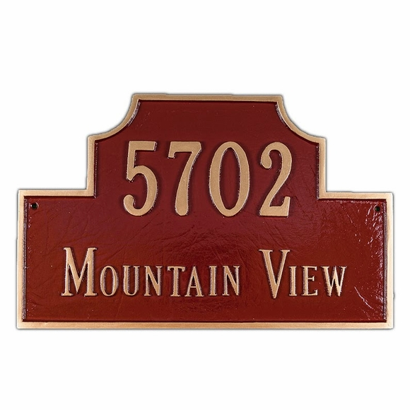 Address Plaque - Choose Your Size and Color - For Wall or Optional Lawn Mount