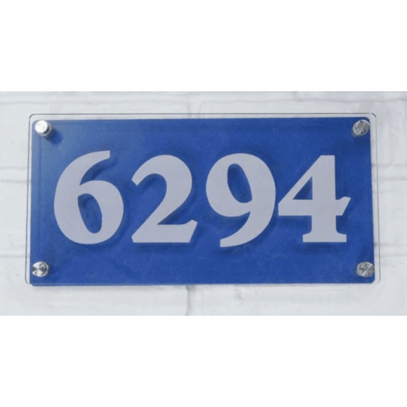 Address Plaque - Contemporary Clear Acrylic House Number Sign