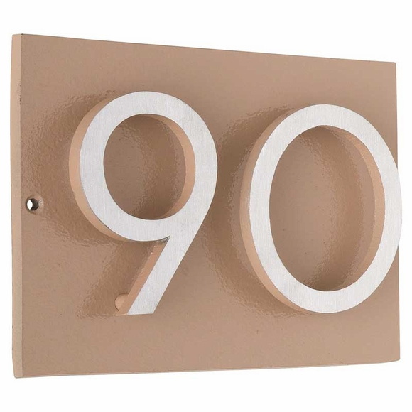 3D Address Plaque with 2 Offset Numbers - Contemporary House Number Sign - Choose Horizontal or Vertical