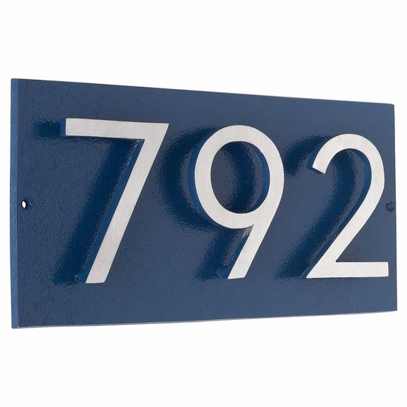 Address Plaque with 3 Offset Numbers