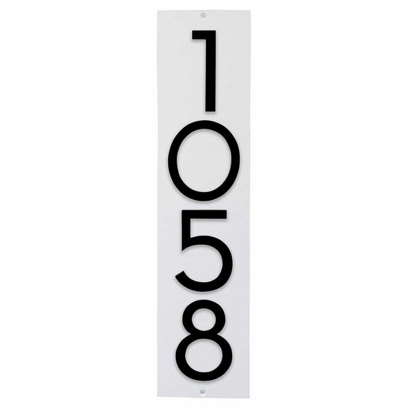 Address Plaque with 4 Offset Numbers - 3D House Number Sign - Choose Vertical, Horizontal, or Lawn Stake