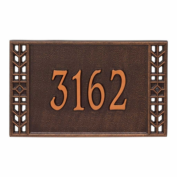 Address Plaque with Mission Style Border