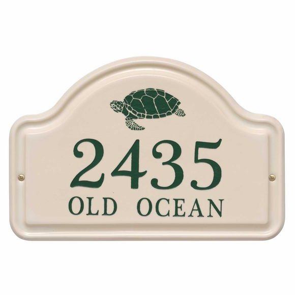Address Plaque with Turtle