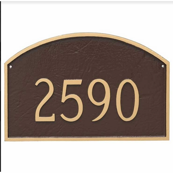 Address Plate - Custom House Number Sign - Select Size and Color