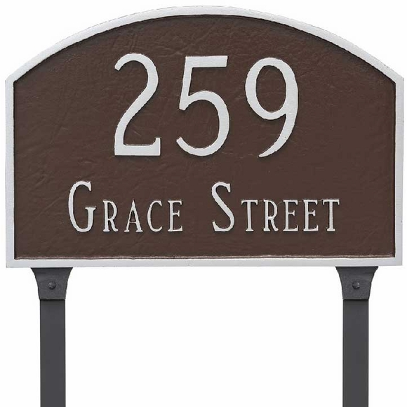 Address Plate with Lawn Stakes
