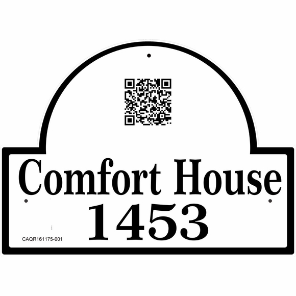 Address Sign with QR Code Information Block