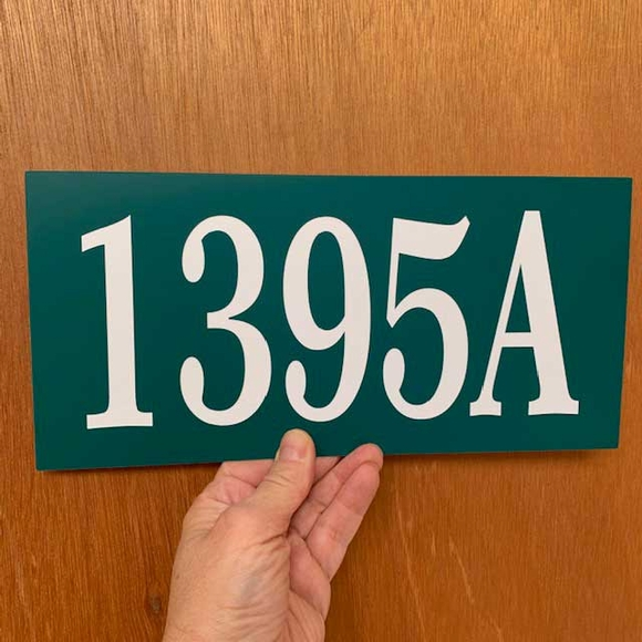 Address Sign With Self Adhesive Tape - Stick On Address Plaque