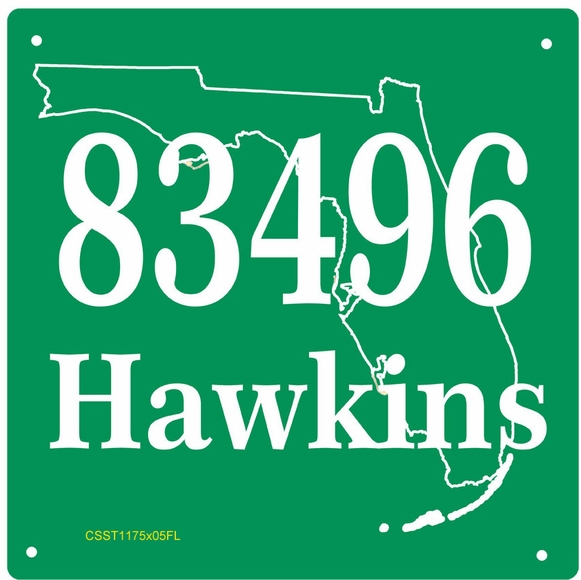 Address Sign with State Outline