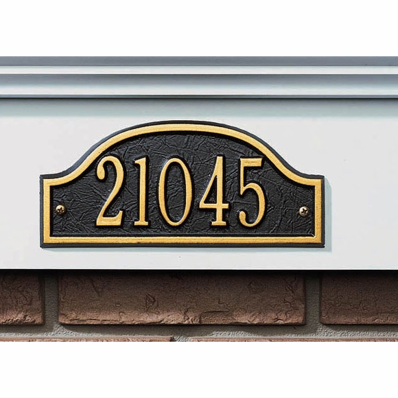Small Address Plaque - Arch Shape House Number Sign