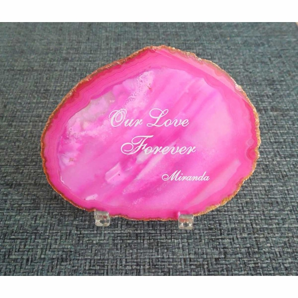 Agate Geode Personalized Engraved Gift