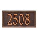AlumaCast Metal Address Plaque Antique Copper