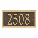 AlumaCast Metal Address Plaque Bronze with Gold