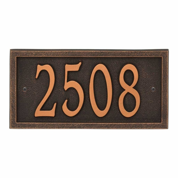 AlumaCast Metal Address Plaque Oil Rubbed Bronze