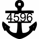 Anchor Silhouette Address Sign