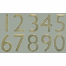 "Antique Brass 5"" Floating House Number"