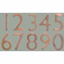 "Antique Copper 5"" Floating House Number"
