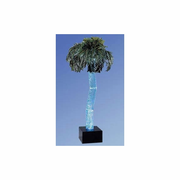 Palm Tree With Water Filled Bubble Trunk And Light
