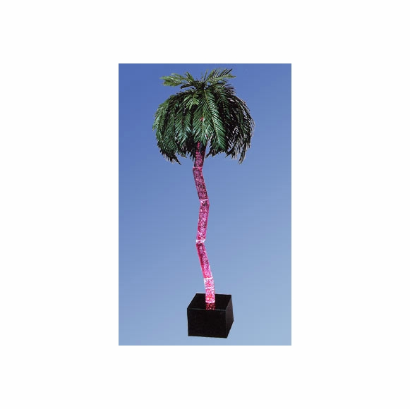 Artificial Palm Tree with Light and Bubbles