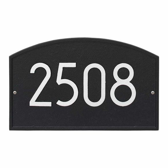 Arch Address Plaque with Modern Font - Contemporary House Number Sign