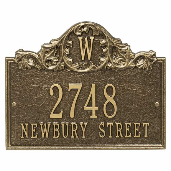 Arch Address Plaque with Monogram Wall Mount
