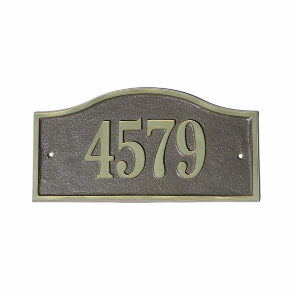 Arch Address Sign - Solid Cast Brass